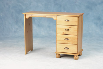 Portland Single Pedestal 4 Drawer Dressing Table
