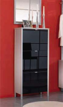 Furniture123 Prestige Shoe Cabinet in Black