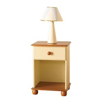 Provencale Pine 1 Drawer Bedside Table