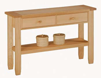 Furniture123 Rhode Oak Console Table - FREE NEXT DAY DELIVERY