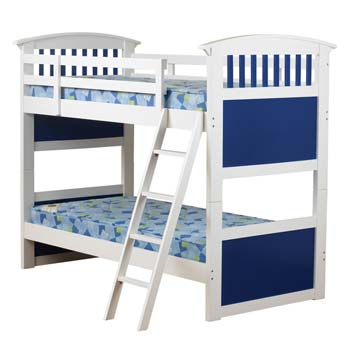 Furniture123 Robin Kids Bunk Bed in Blue