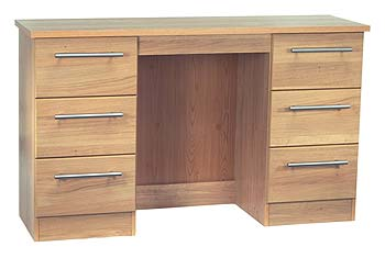 Sherwood Oak 6 Drawer Dressing Table