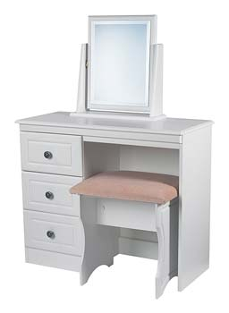 Snowdon White 3 Drawer Dressing Table