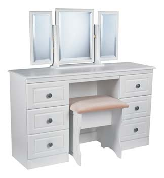 Snowdon White 6 Drawer Dressing Table