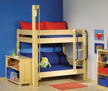 Furniture123 Thuka Shorty 5 Bunk Bed With Rope Swing