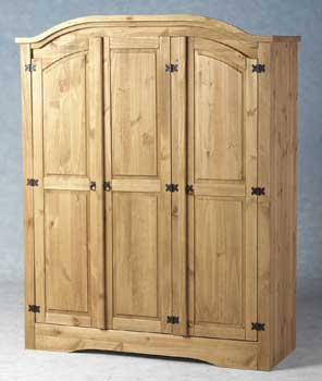 Furniture123 Toledo Pine 3 Door Wardrobe product image