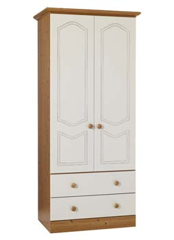 Wardrobe double with 3 drawers for Furniture 123 wardrobes