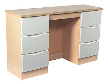 Verona Birch 6 Drawer Dressing Table