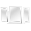 FurnitureToday Avimore White Butterfly Mirror