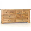 The Breton pine 8 drawer chest of drawers features four small and four large drawers creating maximum bedroom storage All drawers open on wooden runners and by squared metal contemporary handles - CLICK FOR MORE INFORMATION