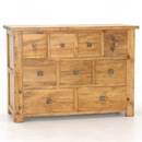The Breton pine 9 drawer chest of drawers features nine drawers cascading down the unit of varying sizes creating maximum bedroom storage All drawers open on wooden runners and by squared metal contemporary handles - CLICK FOR MORE INFORMATION