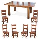 FurnitureToday Brooklyn Reclaimed Oak Extending Dining Set product image