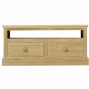 Chichester solid oak widescreen TV cabinet with