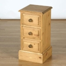 Cotswold Pine Narrow 3 Drawer mini chest