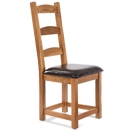 FurnitureToday Cotswold Rustic Oak Dining Chair product image