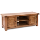 Cotswold Rustic Oak Wide TV Cabinet