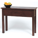 FurnitureToday Cube mahogany console table with 3 drawers