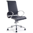 FurnitureToday Designer chrome and leather task office chair 8005 product image