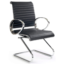 FurnitureToday Designer chrome and leather task office chair 8006 product image