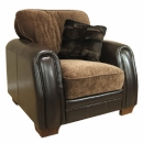 FurnitureToday Emily Mixed Leather and Fabric Sofa product image