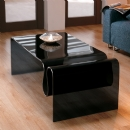 FurnitureToday Giavelli Smoked Curved Fold Coffee Table product image