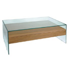 FurnitureToday Glass and wood coffee table iley product image