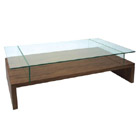 FurnitureToday Glass and wood coffee table Wylou product image
