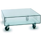 FurnitureToday Glass coffee table with castors product image