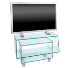 FurnitureToday Glass plasma stand on cylindrical feet 59177