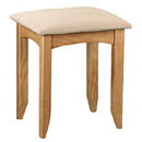Julian Bowen Kendal Pine dressing table stool