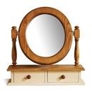 FurnitureToday Mottisfont Painted Pine Dressing Table Mirror