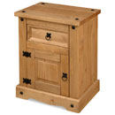 FurnitureToday New Corona mexican pine 1 door bedside
