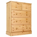 FurnitureToday One Range Pine 3   2 All Deep Drawer Wide Chest