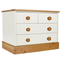 FurnitureToday One Range Pine Painted 2   2 Drawer Wide Chest