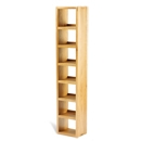 FurnitureToday Soho Solid Oak Slim 7 Shelf CD Unit