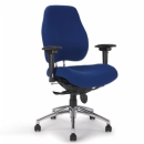 Synchronised full back fabric office task chair