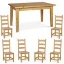 FurnitureToday Tarka Solid Pine Contemporary Amish Dining Chair product image