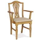 FurnitureToday Tarka Solid Pine Upholstered Carver Chair product image