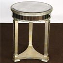FurnitureToday Venetian glass 3 leg side table
