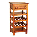 Village furniture 1 drawer wine rack
