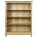 Winchester solid oak medium open bookcase with