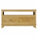 Winchester solid oak widescreen TV cabinet with