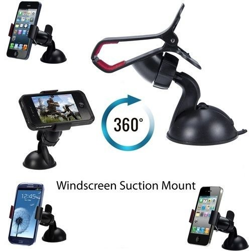 Universal Mobile Phone PDA In Car Windscreen Suction Mount Holder Cradle Stand for iPhone 6 6+ plus 5 5S 5C 4 2 3 3G 3Gs 4 4S Samsung S5 S4 S3 mini Note 3 2 I9100 S5830 Htc all smart phones and GPS de