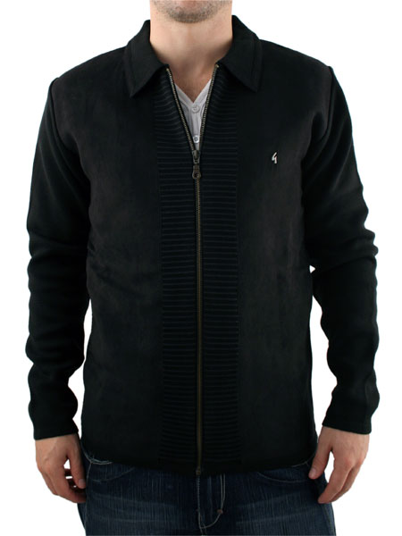 Gabicci Vintage Panel Front Zip Cardigan - Men's cardigan from Gabicci Vintage - Fitted style wi - CLICK FOR MORE INFORMATION