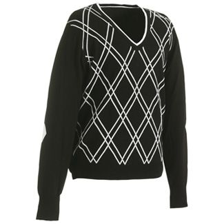 CHARLES PULLOVER MENS SWEATER Black/White / XX-Large