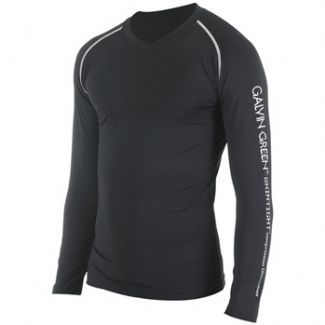 ENZO LONG SLEEVE BASE LAYER SHIRT BLACK/ALUMINIUM / LARGE