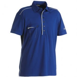 JASPER MENS GOLF SHIRT ULTRA MARINE/ALUMINIUM / X-LARGE