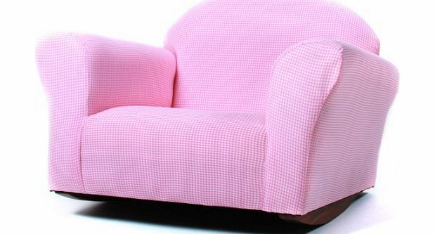 Garden at Home Fantasy Furniture Roundy Rocking Chair Gingham, Pink, Garden, Lawn, Maintenance product image