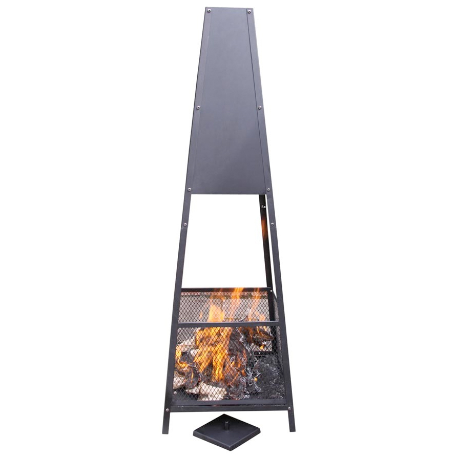Extra Large Pyramid Fireplace Mesh Design