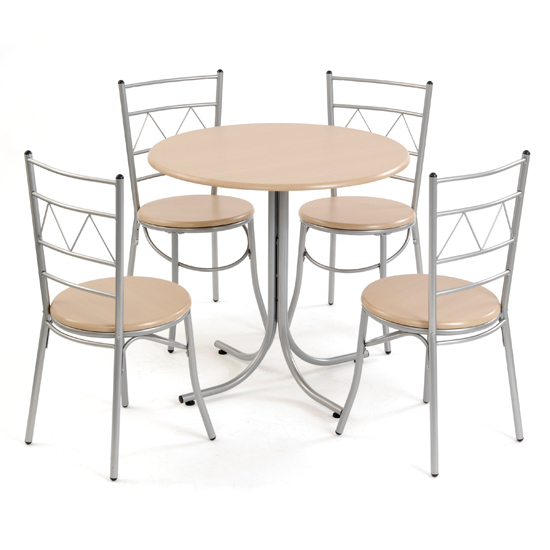 Gardens and homes direct dining room sets for Modern metal dining room chairs